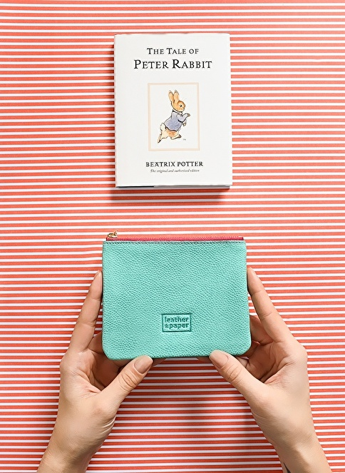 Leather & Paper Deri Mini Çanta Yeşil